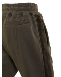 Haider Ackermann | Brown Cotton Jersey Pants With Velvet Sideband for Men | Lyst