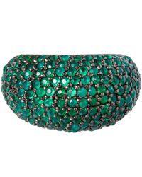 M.c.l - Green Agate Stardust Ring - Lyst