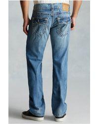 True Religion | Blue Ricky Straight Super T Mens Jean for Men | Lyst