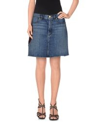 Marc Jacobs - Blue Denim Skirt - Lyst