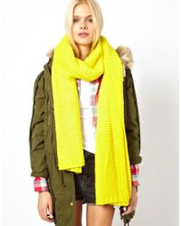 Pepe Jeans | Yellow Neon Oversized Scarf | Lyst
