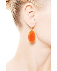 Kothari - Orange Extra Large Egg Slice Earrings - Lyst