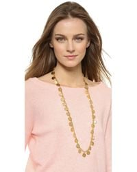 Kenneth Jay Lane | Metallic Coin Necklace - Gold | Lyst