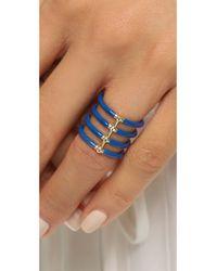Elizabeth and James | Berlin Enamel Ring - Blue | Lyst