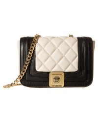 Love Moschino | White Mini Quilted Flap Crossbody Purse | Lyst