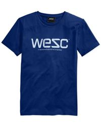 Wesc | Blue Logo Graphic T-shirt for Men | Lyst
