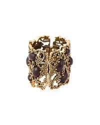Oscar de la Renta | Metallic Embellished Cuff | Lyst
