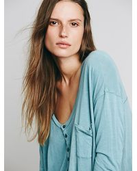 Free People | Blue We The Free Womens We The Free Borrowed Boyfriend Henley | Lyst