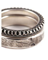 Werkstatt:münchen - Metallic Punched Ring Set for Men - Lyst