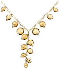 Macy's - Metallic 14k Gold And Sterling Silver Over Sterling Silver Necklace, Gold-tone Bead - Lyst