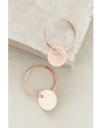 Anthropologie | Pink Rhodes Mini Hoops | Lyst