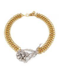 Lulu Frost - Metallic New Snake Necklace  - Lyst