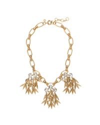 J.Crew | Metallic Jeweled Quill Statement Necklace | Lyst