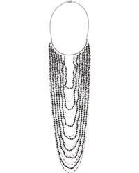 Eddie Borgo - Metallic Berber Rhodium-plated Sandstone Necklace - Lyst