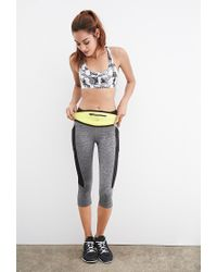 Forever 21 - Gray Medium-impact - Abstract Print Sports Bra - Lyst
