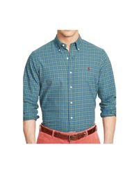 Polo Ralph Lauren   Blue Checked Oxford Shirt for Men   Lyst