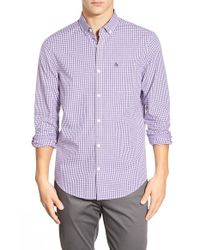 Original Penguin | Purple Trim Fit Gingham Sport Shirt for Men | Lyst