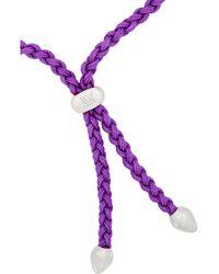 Monica Vinader - Metallic Esencia Sterling Silver Cord Bracelet - Lyst