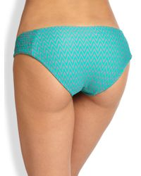 Tori Praver Swimwear | Brown Daisy Ruched Bikini Bottom | Lyst