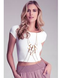 Bebe - Metallic Plated Body Chain - Lyst