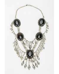 Urban Outfitters | Metallic Silk Road Designs Stone Statement Necklace | Lyst