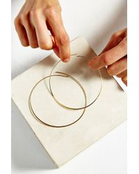 Urban Outfitters - Metallic The Modern Hoop Earring - Lyst