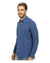 Agave - Blue Japanese Soft Clouds Long Sleeve Woven for Men - Lyst