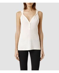 AllSaints | White Twill Top | Lyst