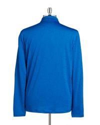 Calvin Klein | Blue Logo Quarter-zip Top for Men | Lyst