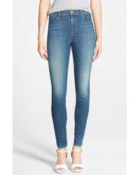 J Brand - Blue 'maria' High Rise Skinny Jeans - Lyst