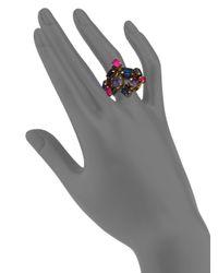 Erickson Beamon | Multicolor Velvet Underground Crystal Cluster Ring | Lyst