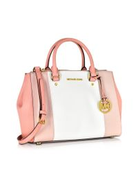 Michael Kors - Metallic Sutton Tricolor Medium Saffiano Leather Satchel Bag - Lyst