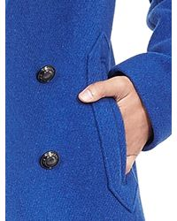 Banana Republic | Blue Swing Peacoat | Lyst