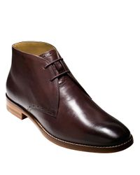 Cole Haan | Brown Cambridge Leather Chukka Boots for Men | Lyst
