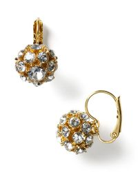 kate spade new york | Metallic Single Ball Earrings | Lyst