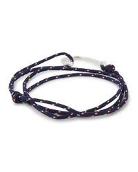Miansai | Blue Navy Triple Wrap Rope Hook Bracelet for Men | Lyst
