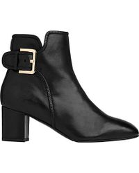 L.K.Bennett - Black Siara Heeled Ankle Boots - Lyst