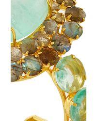 Bounkit | Green Fluorite And Labradorite Cuff | Lyst
