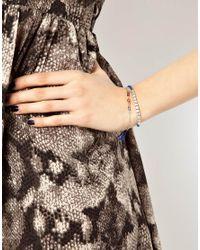 ASOS - Blue Asos Cord Eye Charm Bracelet - Lyst