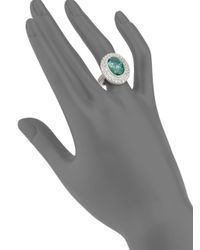 Judith Ripka - Green Isabella Spinel, White Sapphire & Sterling Silver Ring - Lyst