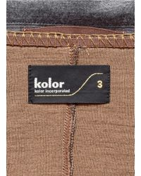 Kolor - Gray Stitch Trimmed Wool Coat for Men - Lyst