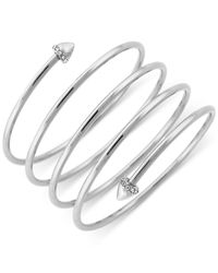 BCBGeneration | Metallic Silver-tone Skinny Wire Wrapped Bracelet | Lyst