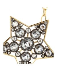 Lanvin - Metallic Crystalembellished Necklace - Lyst