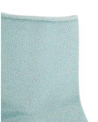 ASOS | Blue Metallic Roll Top Ankle Socks | Lyst