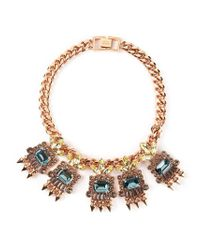 Mawi - Metallic Geometric Crystal Necklace - Lyst