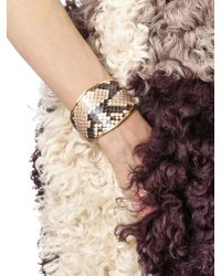 Marni | Pink Bangle In Python And Gilded Metal | Lyst