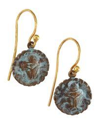 Gurhan | Metallic Pantheon Bronze Gold Short Drop Earrings | Lyst
