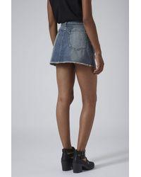 TOPSHOP - Blue Moto Reclaim To Wear Denim Skirt - Lyst