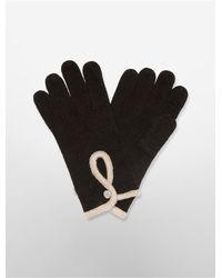 Calvin Klein | Black Keyhole Gloves | Lyst