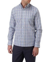 Skopes | Blue Check Classic Fit Button Down Shirt for Men | Lyst